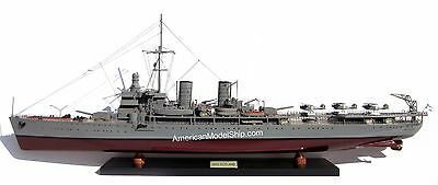 "HMS Gotland Gotland-class Swedish Navy Battleship Ship Model 39"" - Wooden Model"