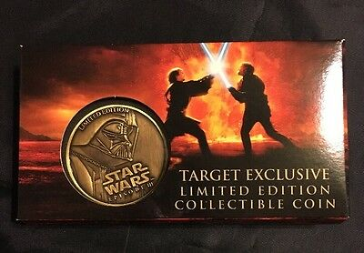 Target Exclusive Star Wars Episode III Limited Edition Darth Vader Coin