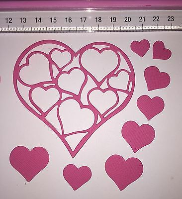 36 Pc Unbranded 'Hearts In Heart' Die Cuts Valentine Love Marriage Friend