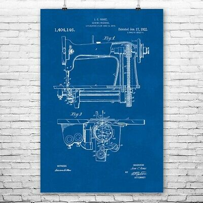 Sewing Machine Poster Art Print Sewing Poster Sewing Art Sewing Wall Art Gift