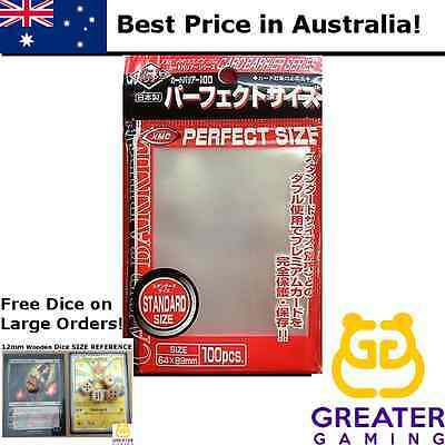 100ct KMC Perfect Size Single and BULK Fit Sleeves MTG Pokemon Standard Size