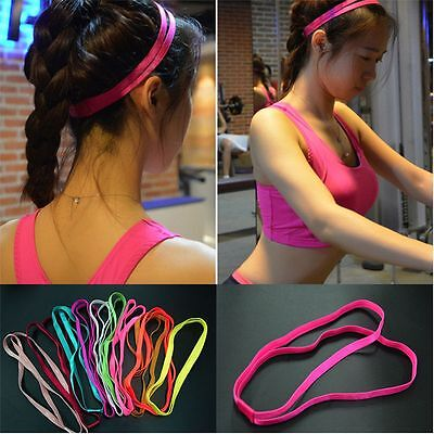 Hairbands Hair Elastic Double Sports Running 10 Anti-Slip Yoga Colors