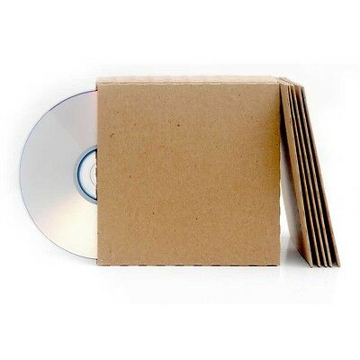 50 Brown Recycled Card CD Sleeves/Wallets Brand New Unbranded/Blank