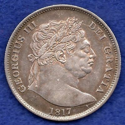 Great Britain, George III, 1817 Halfcrown, Higher Grade (Ref. c2845)