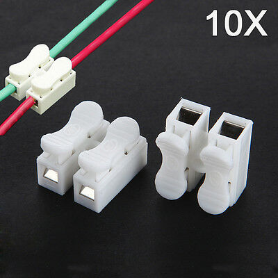 New 10pcs CH-2 Press  Electric Connection Quick Wiring Terminal for LED Lighting