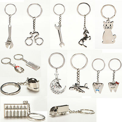 Creative Metal Keychain  Key Ring Key Chain Key 12 Pattern Choose Decor   U8Q