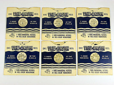 6 x RARE VINTAGE VIEWMASTER 1950'S REELS / 3D PICTURES / CHILDREN STORIES