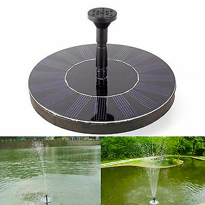 Solar Panel Power Water Feature Floating Pump Fountain NEW Pool Pond Garden