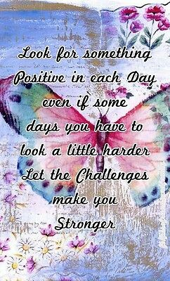 """INSPIRATIONAL QUOTE """"SOMETHING POSITIVE""""  IMAGE  A4 Poster Gloss Print Laminated"""