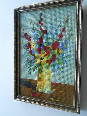 Lovely cross stitch picture in frame