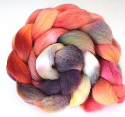 Hand Dyed Texel Wool 100g T05 Combed Wool Top Shunklies