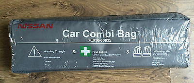 Genuine Nissan Emergency Safety Kit With Bag New! First Aid,vests,triangle 2020