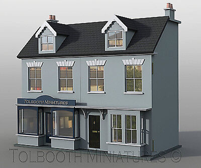 Jubilee Terrace Double Dolls House 1:12 Scale - Unpainted Dolls House Kit