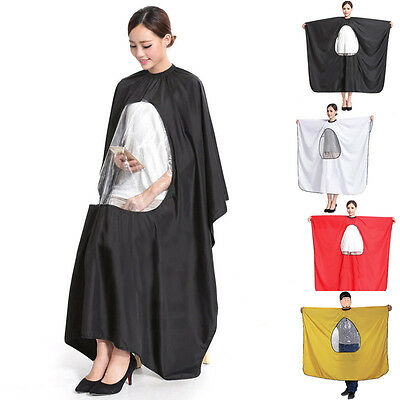 Adult Salon Hair Cut Hairdressing Barbers Cape Gown Waterproof Cover Cloth Dfgh