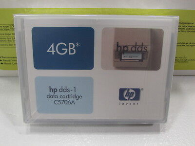 NEW Sealed HP Hewlett-Packard C5706A -1PACK DDS1 DAT 4GB