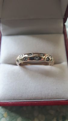 Vintage .25ct Diamond / 9ct Gold WEDDING RING