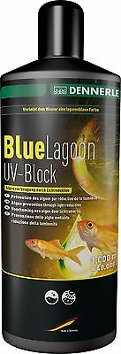Dennerle Blue Lagoon - Pond UV Blocker Blue Dye Tint Colour Anti Algae 1000ml