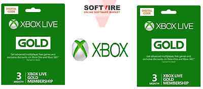 Xbox LIVE Prepaid 3 Month Gold Subscription