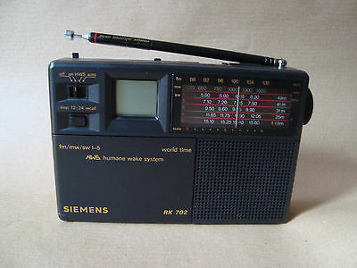 SIEMENS RK 702 Weltempfänger Radio World Band Receiver