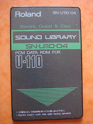 "Roland 90' PCM ROM SN U110 04 ""Electric Grand & Clavi"" DATA U 110 220 U20 D70 CM"