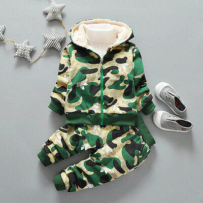 NEW!Boys camouflage 2 pcs WARM winter clothing set tracksuit outfit 3-4 years