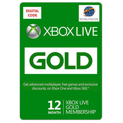 Xbox LIVE Prepaid 12 Month Gold Subscription UPC S4T 00019 ESD