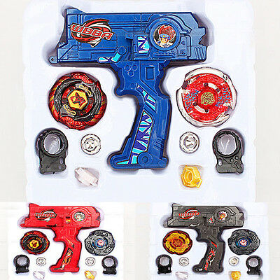 4D Beyblade Metal Master Fusion Top Rapidity Fight Rare Launcher Grip Set Toys