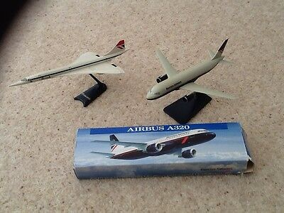 British Airways Airbus A320 & Concorde Aircraft Models