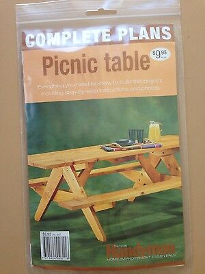Complete Plans -How to build a picnic table