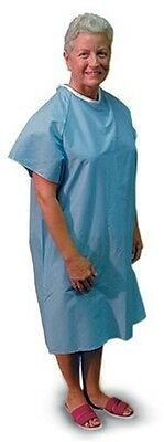 Duro-Med DMI Convalescent Hospital Gown with Back Tie, Blue