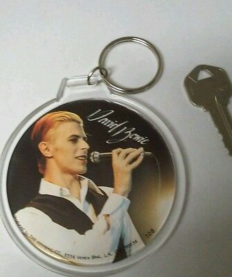 1979 young David Bowie  3 inch button print copy turn collectors key chain