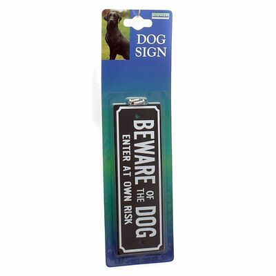 BEWARE OF THE DOG sign Rosewood Pre drilled for easy fixing
