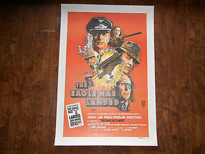 THE EAGLE HAS LANDED  Linenbacked Movie Poster 1977 MICHAEL CAINE Jack Higgins