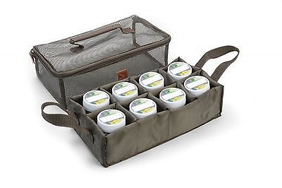 Avid Carp Tuned Hookbait Bag With 8 Tubs Avlug/71 Coarse Fishing Luggage
