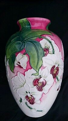 ** Moorcroft Style Old Tupton Ware Morning Orchid Vase 21Cm High Tw6911 **