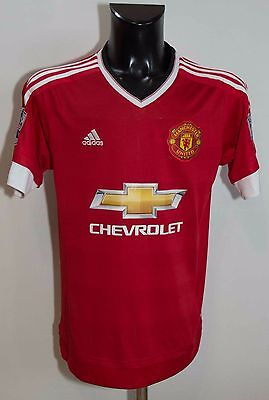 Mens Manchester United Football Club Shirt Adidas Size S Excl
