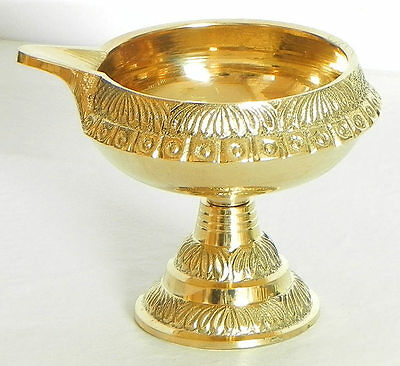 Brass Kuber Diya Oil lamp Hindu Puja Christmas Light Gift Navratra NAVRATRI+SHIP