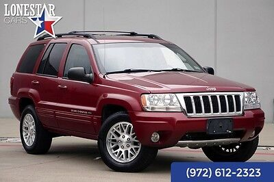 2004 Jeep Cherokee Limited  AWD Leather V-8 2004 Red Limited  AWD Leather V-8!