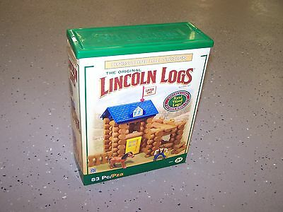 Lincoln Logs.  The Original Linclon Logs, 83 Pieces of Fun, Ages 3+.  New In Box