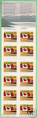 Canada Stamps -Booklet Pane of 12 -Flag over Shoreline #1389a (BK158) -MNH