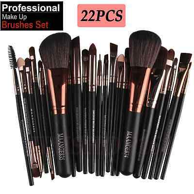 New Pro 22pcs Makeup Brush Set Foundation Powder Eyeliner Eyeshadow Lip Brushes