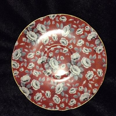 Tapestry Rose chintz saucer marked Shelley England Excellent condition