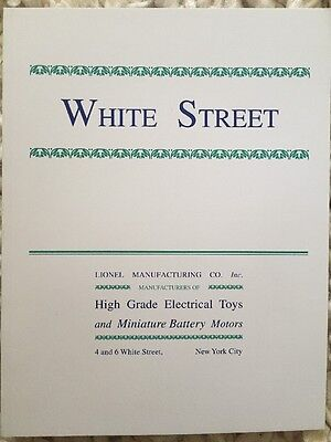 Lionel's White Street High Grade Electrical Toys And Battery Motors By Kovacs