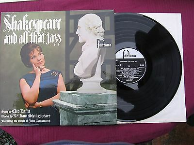 "Cleo Laine "" Shakespeare and All That Jazz ""  12"" L.P. vinyl Issued 1964"