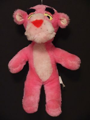 "Vintage 1980 Pink Panther~11"" Mighty Star~Plush Stuffed Animal Toy"