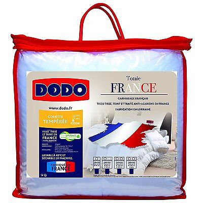 Dodo 29274 TOTALE FRANCE Couette Polyester Coton Blanc 200 x 140 cm