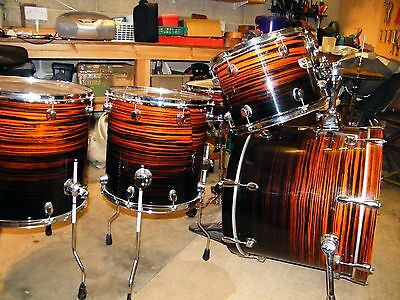 Mapex Pro M Limited Edition Zebrawood Drum Kit