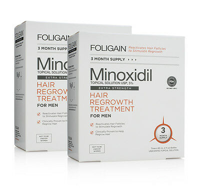 FOLIGAIN.P5 5% PUREST MINOXIDIL for Hair Regrowth FDA APPROVED - 6 Month Supply