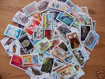 100 Different Tanzania Stamps,excellent Lot.