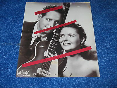 Press Photo Gibson Guitars Les Paul & Mary Ford Excusively Capital Records 1953
